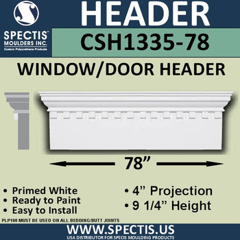 """CSH1335-78 Crosshead for Window/Door 4""""P x 9.25""""H x 78""""W"""
