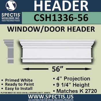 """CSH1336-56 Crosshead for Window/Door 4""""P x 9.25""""H x 56""""W"""