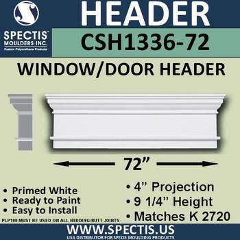"""CSH1336-72 Crosshead for Window/Door 4""""P x 9.25""""H x 72""""W"""