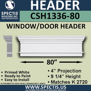 """CSH1336-80 Crosshead for Window/Door 4""""P x 9.25""""H x 80""""W"""