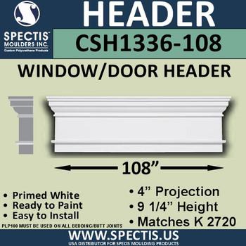 """CSH1336-108 Crosshead for Window/Door 4""""P x 9.25""""H x 108""""W"""
