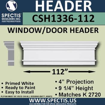 """CSH1336-112 Crosshead for Window/Door 4""""P x 9.25""""H x 112""""W"""