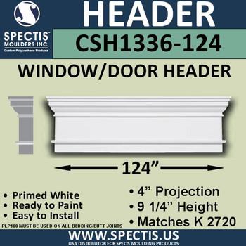 """CSH1336-124 Crosshead for Window/Door 4""""P x 9.25""""H x 124""""W"""