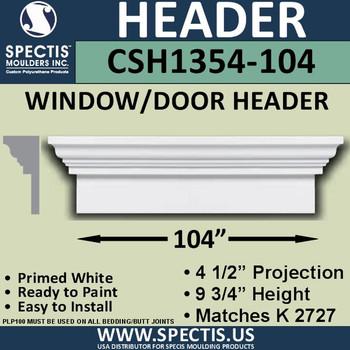 """CSH1354-104 Crosshead for Window/Door 4.5""""P x 9.75""""H x 104""""W"""