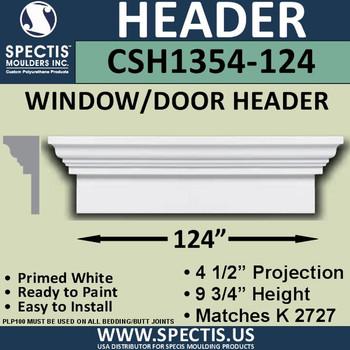 """CSH1354-124 Crosshead for Window/Door 4.5""""P x 9.75""""H x 124""""W"""