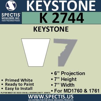 """K2744 Spectis Urethane Keystone 6""""P X 7""""H X 7""""W"""