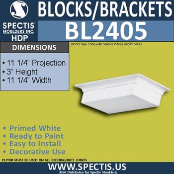 "BL2405 Square Eave Block P-11.25"" x H-11.25"" x W 11.25"""