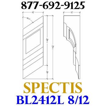 """BL2412L-8/12 Pitch Corbel or Eave Bracket 7""""W x 14""""H x 5.5"""" P"""