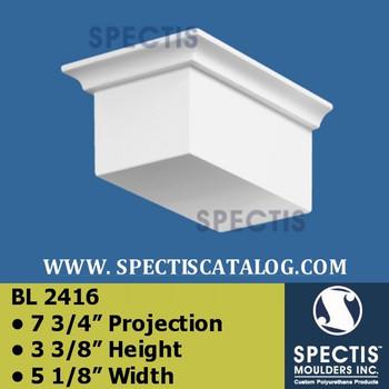 "BL2416 Eave Block 7 3/4"" P  3 3/8""H 5 1/8"""