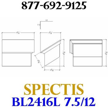 """BL2416L-7.5/12 Pitch Corbel Block or Bracket 5""""W x 4""""H x 8"""" P"""