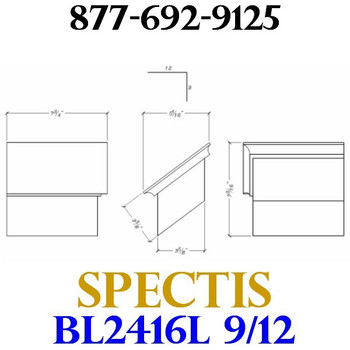 """BL2416L-9/12 Pitch Corbel Block or Bracket 5""""W x 4""""H x 8"""" P"""