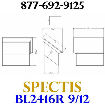 "BL2416R-9/12 Pitch Corbel Block or Bracket 5""W x 4""H x 8"" P"