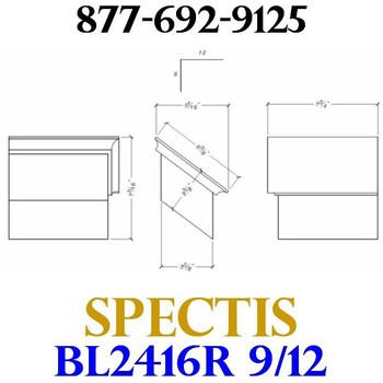 "BL2416R-9/12 Pitch Corbel Block or Bracket 5""W x 4""H x 8"" P"