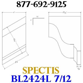 """BL2424L-7/12 Pitch Corbel Block or Bracket 4""""W x 6""""H x 6"""" P"""
