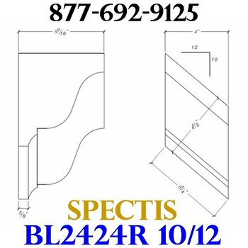 "BL2424R-10/12 Pitch Corbel Block or Bracket 4""W x 6""H x 6"" P"