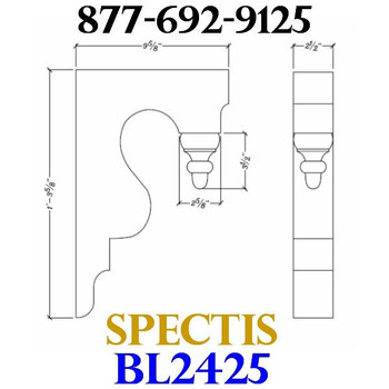 "BL2425 Corbel Block or Eave Bracket 2.5""W x 15.5""H x 9.5"" P"