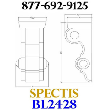 "BL2428 Corbel Block or Eave Bracket 3.5""W x 8.75""H x 3.5"" P"