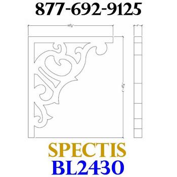 "BL2430 Corbel Block or Eave Bracket 1""W x 12.5""H x 10.5"" P"