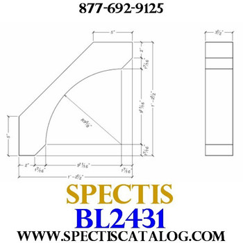 "BL2431 Corbel Block or Eave Bracket 3.5""W x 14.5""H x 14.5"" P"