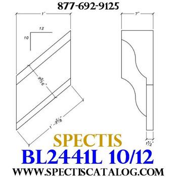 """BL2441L-10/12 Pitch Corbel or Bracket 12""""W x 12""""H x 7"""" P"""
