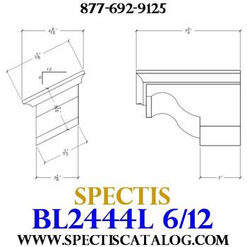 """BL2444L-6/12 Pitch Corbel Block or Bracket 5""""W x 4""""H x 8"""" P"""