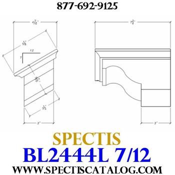 """BL2444L-7/12 Pitch Corbel Block or Bracket 5""""W x 4""""H x 8"""" P"""