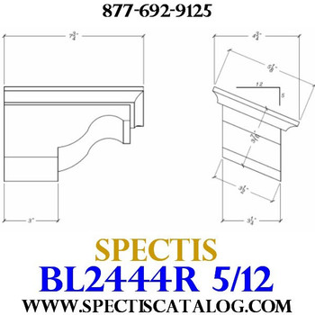 "BL2444R-5/12 Pitch Corbel Block or Bracket 5""W x 4""H x 8"" P"