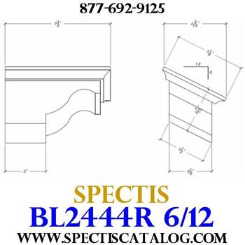 "BL2444R-6/12 Pitch Corbel Block or Bracket 5""W x 4""H x 8"" P"