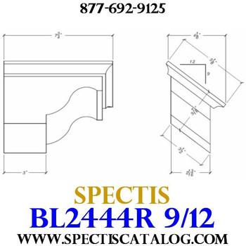 "BL2444R-9/12 Pitch Corbel Block or Bracket 5""W x 4""H x 8"" P"
