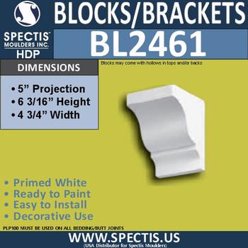 "BL2461 Eave Block or Bracket 4.75""W x 6""H x 5"" P"