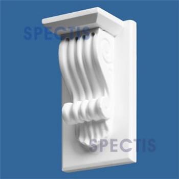 "BL2464 Corbel Block or Eave Bracket 5""W x 8.5""H x 3.75"" P"