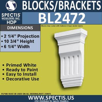 "BL2472 Eave Block or Bracket 6.25""W x 10.75""H x 2.25"" P"