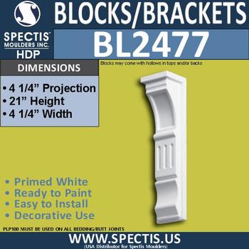 "BL2477 Eave Block or Bracket 4.5""W x 21""H x 4.5"" P"