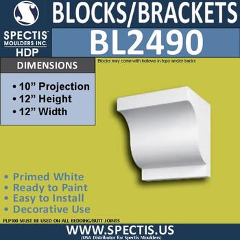 "BL2490 Eave Block or Bracket 12""W x 12""H x 10"" P"