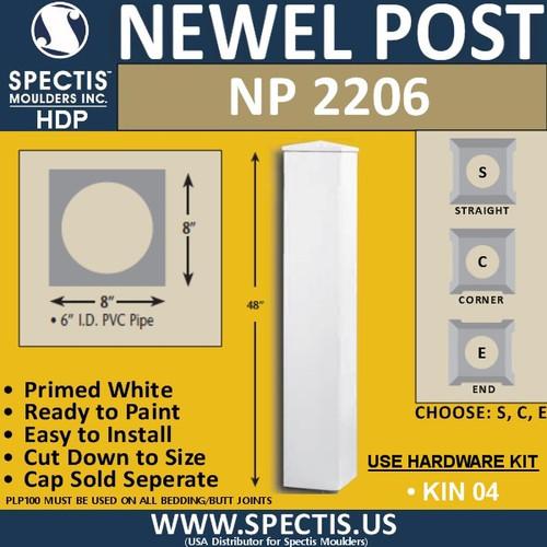 "NP2206 Urethane Newel Post 8"" W x 48"" H"