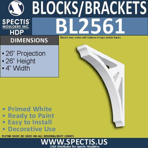 "BL2561 Eave Block or Bracket 4""W x 26""H x 26"" P"