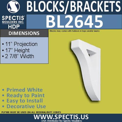 "BL2645 Eave Block or Bracket 2.9""W x 17""H x 11"" P"