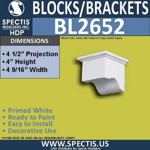 "BL2652 Eave Block or Bracket 4.5""W x 4""H x 4.5"" P"