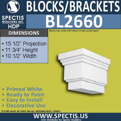 "BL2660 Eave Block or Bracket 10.5""W x 11.75""H x 15.5"" P"
