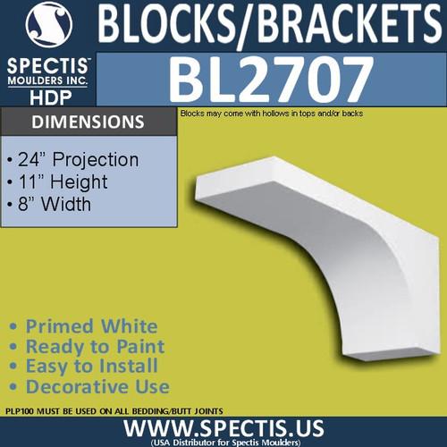 "BL2707 Eave Block or Bracket 6""W x 4""H x 4"" P"