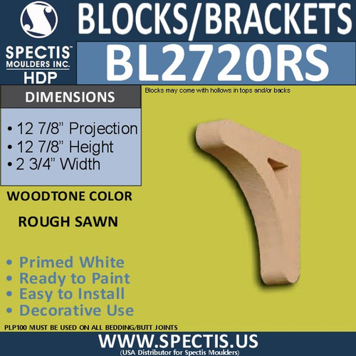 "BL2720RS Rough Sawn Bracket 2.75""W x 13""H x 13"" P"