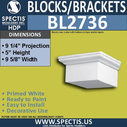 "BL2736 Eave Block or Bracket 9.5""W x 5""H x 9.5"" P"