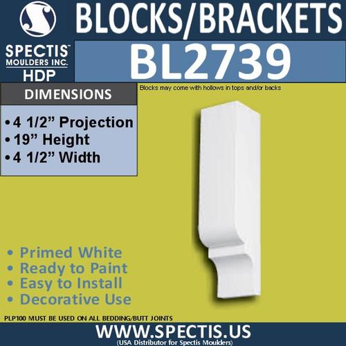 "BL2739 Eave Block or Bracket 4.5""W x 19""H x 4.5"" P"
