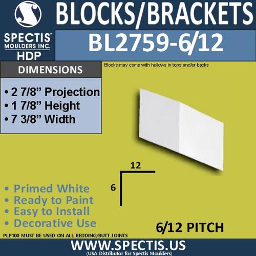 "BL2759-6/12 Pitch Eave Bracket 2""W x 2""H x 3"" P"