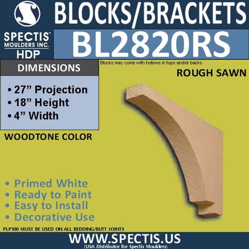 """BL2820RS Rough Sawn Bracket 4""""W x 18""""H x 27"""" P"""