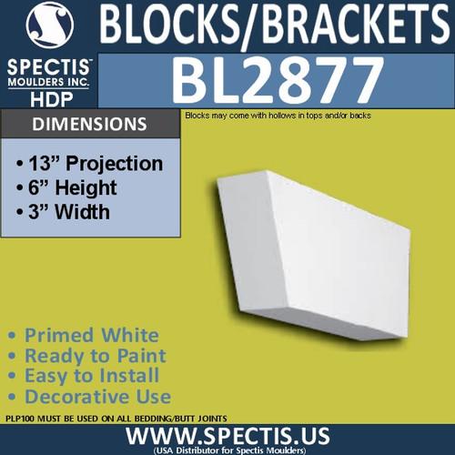 "BL2877 Eave Block or Bracket 3""W x 6""H x 13"" P"