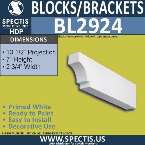 "BL2924 Eave Block or Bracket 13.5""W x 7""H x 2.75"" P"