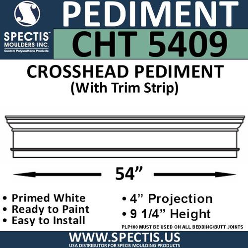 """CHT5409 Crosshead with Trim Strip 54"""" W x 9 1/4"""" H"""