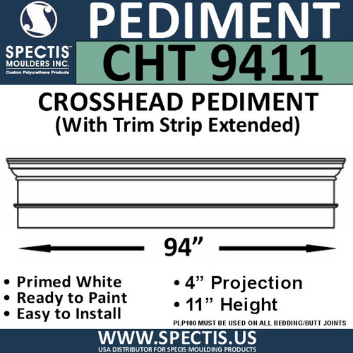 """CHT9411 Crosshead with Trim Strip Extended 94 3/4"""" X 11"""""""