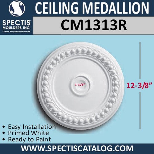 "CM1313R Decorative Ceiling Medallion 1-1/8"" Hole x 12-3/8"""